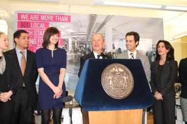 Mayor Michael Bloomberg launched a new campaign to promote local tech starups.