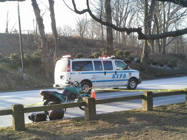 A motorcyclist crashed in Central Park near East 96th Street, the FDNY said.