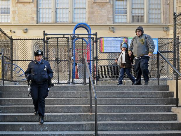 An 8-year-old girl escaped a would-be kidnapper who tried to grab her at the steps of P.S. 33 in The Bronx, officials said.