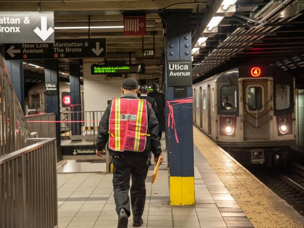 A woman was fatally struck by a 3 train at the Utica Avenue Eastern Partkway Station.