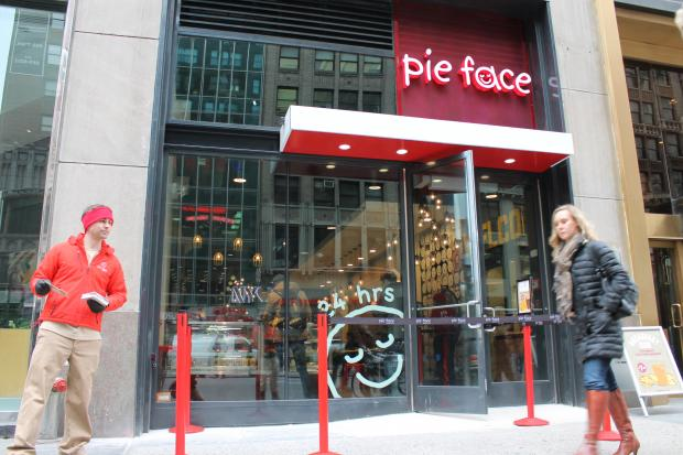 "New York's favorite 24-hour Australia-based pie chain launched its third location in the Big Apple Tuesday morning, and it's planning to open several others in Midtown ""rather soon,"" sources say."