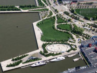 The beer garden on Hudson River Park's Pier 62 will not open until at least 2015, a spokesman said.