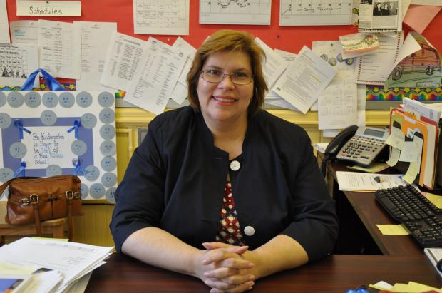 Principal Carmen Asselta is building partnerships to make up for the school's lack of space.