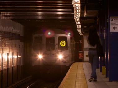 Commuters were delayed on the R and M lines due to the police investigation.