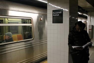 A man was hit and killed by an F train at the Roosevelt Avenue-Jackson Heights station, officials said.