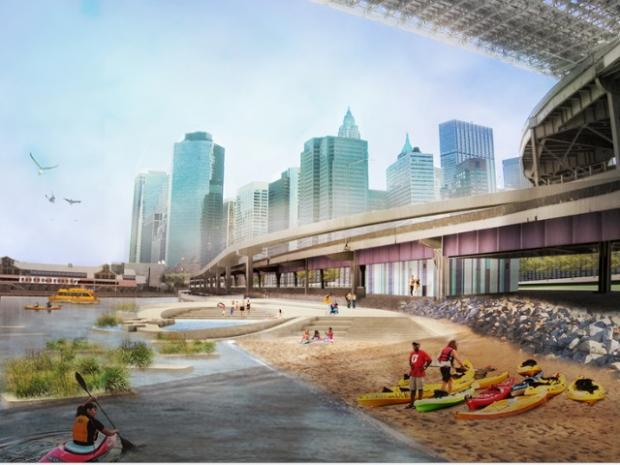 The full version of the East River Blueway Plan was unveiled Thursday evening.