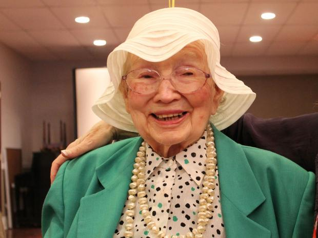 At 105, Shirley Herskowitz is still up and about, enjoying lunch daily with good friends.