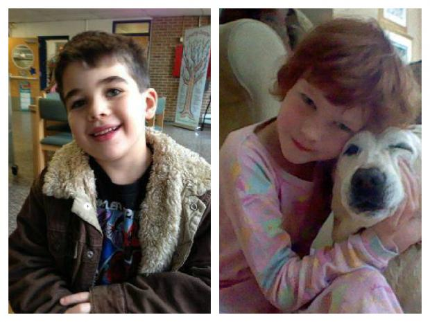 Noah Pozner, 6, and Catherine Hubbard, 6, are two of the Sandy Hook Elementary School children who will be honored in a series of parks firefighters are building in Hurricane Sandy ravaged areas.