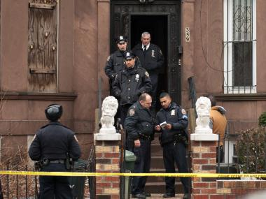 Two women were shot inside 359 East 25th Street in Brooklyn. A male suspect was taken into custody.