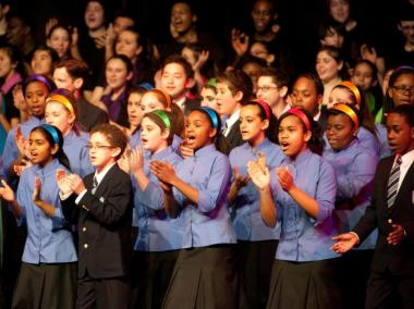 The Young People's Chorus of Washington Heights is made up of 60 children ages 7-11.