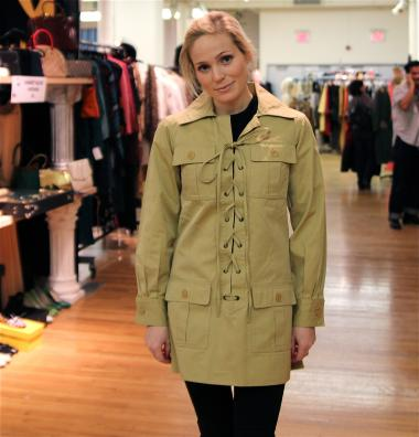 Yves Saint Laurent mini safari dress at Orlando Vintage.