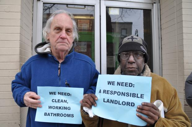 The 1109 Manhattan Avenue building has broken toilets, mold and lack of heat, tenants said.