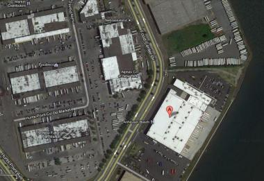 The Anheuser-Busch InBev warehouse (marked with an A) is situated inside the Hunts Point Distribution Center.