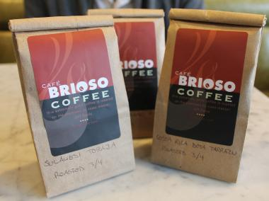 Dennis Lee and his girlfriend Liz Wick are one day hoping to open their own coffee shop. In the meantime, they're giving the neighborhood a sample of what's to come by hand-delivering batches of their coffee beans around Astoria.
