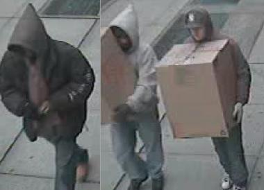 Police are looking for three men wanted in connection with a gunpoint robbery in Astoria.