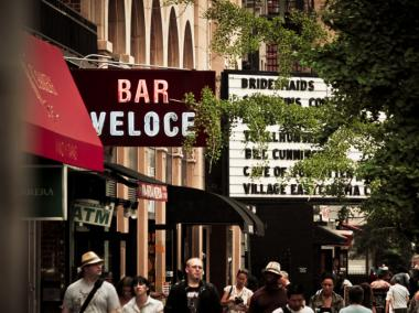 Steve Johnson held 14 patrons hostage in the East Village's Bar Veloce in 2002, shooting three of them.