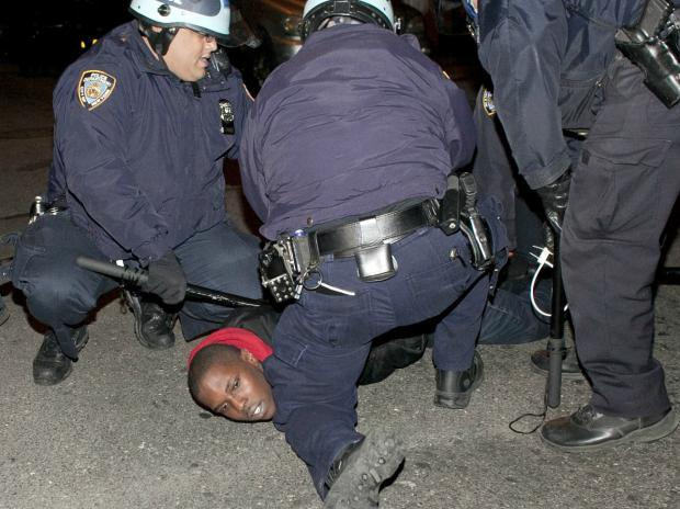 Protesters took to the streets for a third day after the shooting of Kimani Gray by police on Saturday night, March 13, 2013.