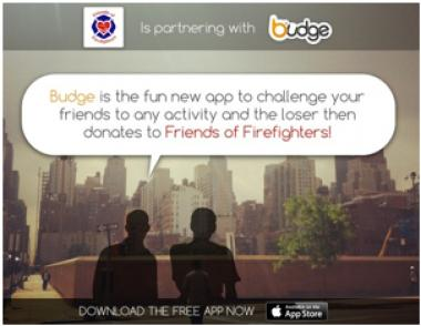 The Budge application asks users to challenge friends to activities and the loser will be prompted to donate.