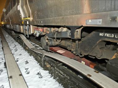 MTA crews were trying to quickly repair nearly 4,000 feet of damaged track after an LIRR train fell off the rails.