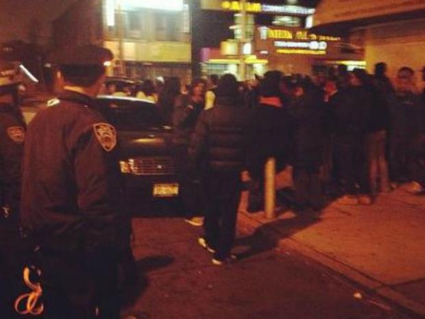 Violence broke out on Church Avenue in East Flatbush, police said.