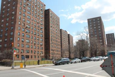 Five Democratic candidates spent Saturday night at an East Harlem public housing complex.