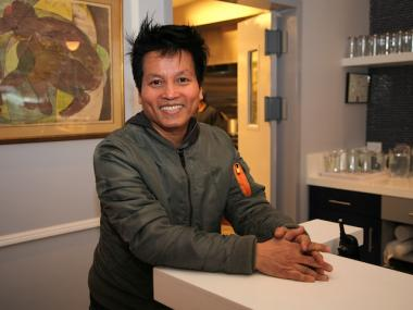 Peacefood Cafe co-owner Eric Yu opened the restaurant's first location at 460 Amsterdam Ave. and 82nd Street.