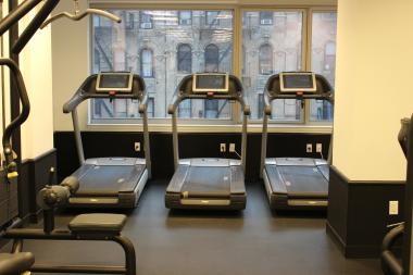 Treadmills at a New York gym. Valuables have been stolen twice recently at the New York Sports Club gym on Ninth Street and Fifth Avenue in Park Slope, police said.