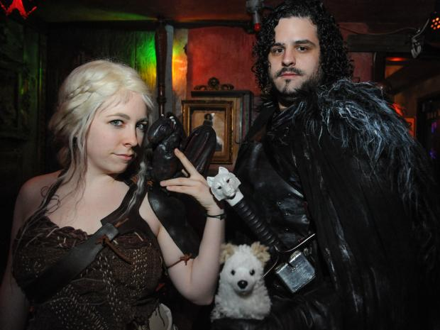 The Game of Thrones Costume and Trivia Contest at Freddy's Bar on Sunday night in Brooklyn