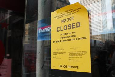 "Health inspectors shuttered three restaurants in Midtown and Flatiron on Monday, March 18, 2013, citing ""evidence of live mice"" and possible food contamination."