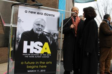 Harlem School of the Arts building re-naming.