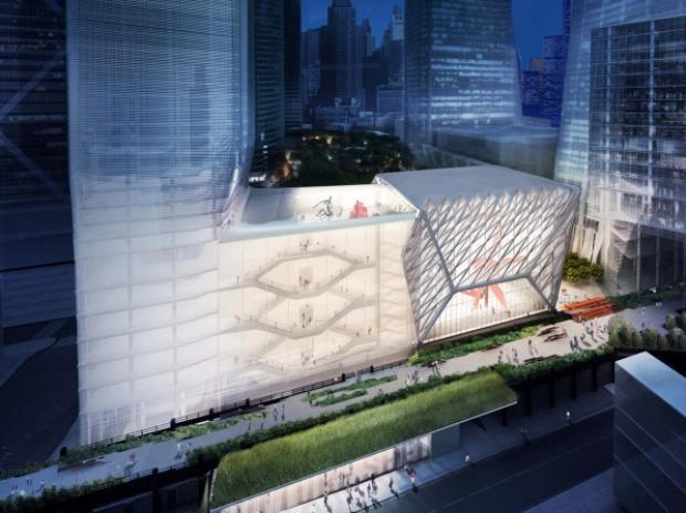 The huge new venue will host gallery shows, concerts and more in Hudson Yards