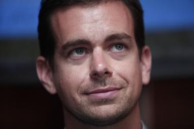 Jack Dorsey, Chairman of Twitter and CEO of Square, speaks with the media after speaking at TECHONOMYDETROIT September 12, 2012 in Detroit, Michigan.