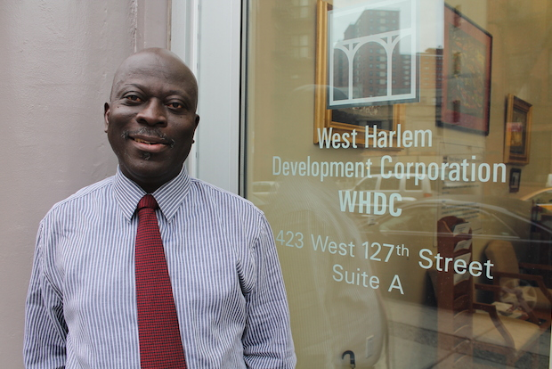 Kofi Boateng, executive director of the West Harlem Development Corporation, is credited with bringing stability to the once-troubled agency charged with advocating for area residents during Columbia University's $6.3 Billion, 17 acre campus expansion into West Harlem. The group is poised to give out its first $2 million in grants to community groups on Thursday.