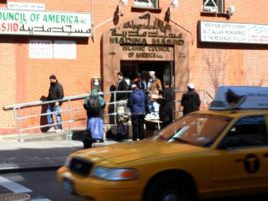 Madina Masjid mosque on East 11th Street as five services a day attracting 300 people.