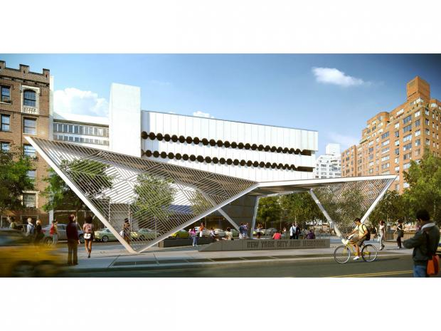 City-approved plans for a new AIDS memorial in the West Village feature a metal canopy and a granite water fountain.