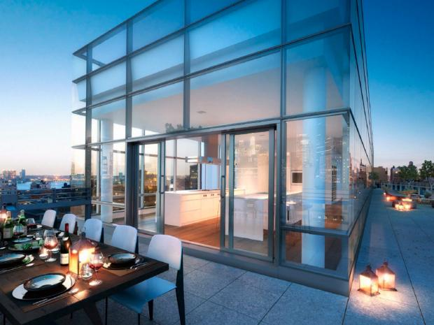 Wall Street titan Richard Handler is worried that rooftop construction at a nearby building will ruin the view from his $23.7 million Tribeca penthouse.