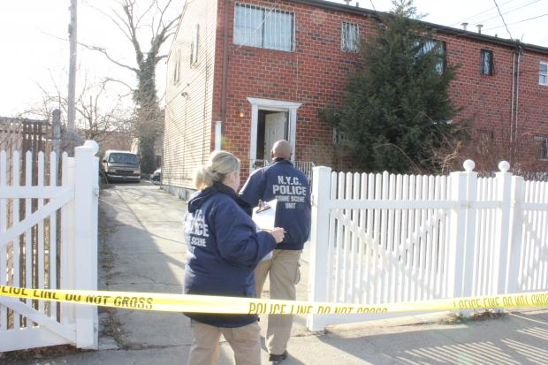 A man, 63, was in custody for suspicion of shooting another man, 51, to death on Shepard Avenue in Brooklyn, police said, on March 10, 2013.