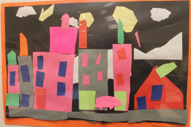 The creative expressions of students from P.S. 75 and P.S. 145 are up at the library through March 11.
