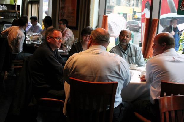 Job-sleuths searching for discreet interview spots safe from the prying eyes of their current employers may have a haven in Midtown. Restaurant Thalia, located on Eighth Avenue near 50th Street, is billing itself as a low-pressure eatery perfect for under-the-radar meet-ups.
