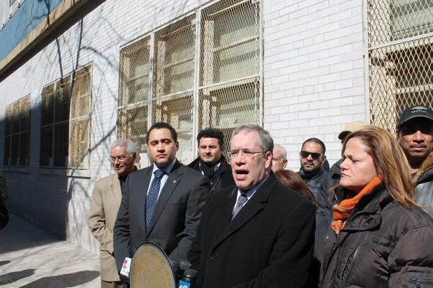 Manhattan Borough President Scott Stringer and local leaders called for tougher traffic enforcement and signage in the wake of the death of  Amar Diarrassouba , who was  killed by a tractor trailer on his way to school in East Harlem Thursday.