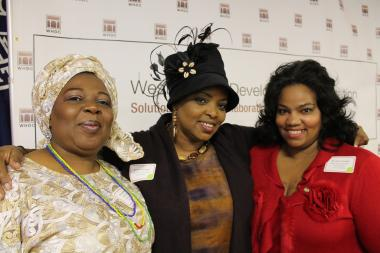 Grant recipients celebrated receiving $2 million from the West Harlem Development Corporation.
