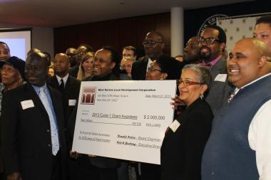 More than 80 recipients were awarded $2 million in grants Thursday as part of the West Harlem Development Corporation's first disbursemnt of $76 million in cash that is part of a community benefits agreement that Columbia University signed with West Harlem as part of its $6.3 billion, 17-acre campus expansion.