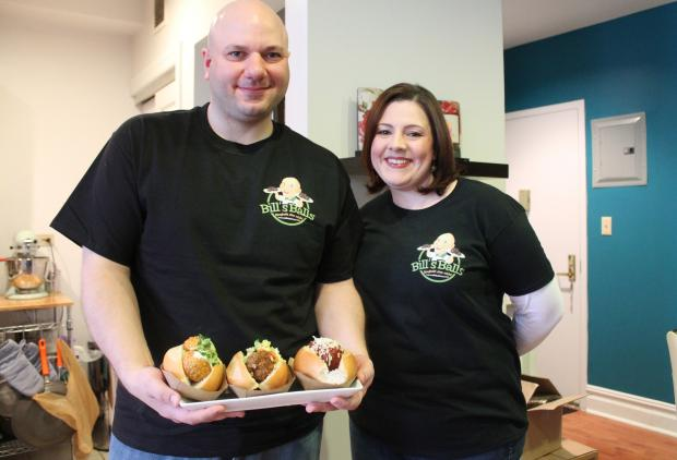 Husband-and-wife Daniela DelGiorno and Bill Morris started Bill's Balls, a meatball sandwich startup.