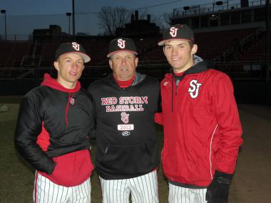 St. John's coach Ed Blankmeyer has his son, Ty, and nephew, Mike Sheppard III, on the team this year.