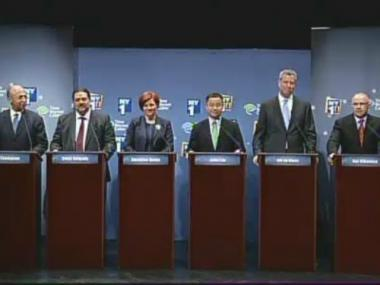The Democratic candidates for mayor debated each other on NY1 April 24, 2013.