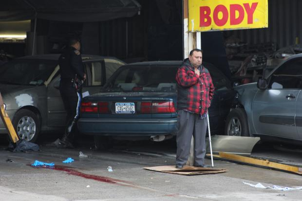 An elderly man killed one man and injured two others when he veered into the autobody shop where they worked near Citi Field.