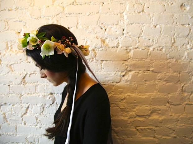 A Lower East Side florist is jumping on the trend by holding head wreath classes.