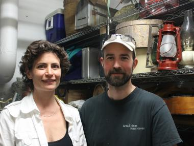Sandra Goldmark and Michael Banta have experience repairing items from their time in theatrical set design.