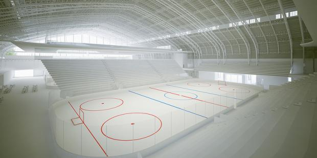 The Kingsbridge National Ice Center will include nine year-round ice rinks, plus community space.