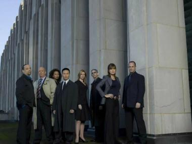 """Law & Order: SVU"" is filming near City Hall April 10, 2013."